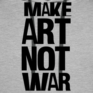 Gråmelerad make art not war T-shirts - Premiumluvtröja herr