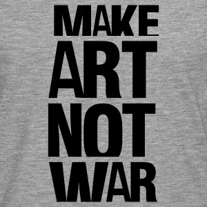 Gråmelerad make art not war T-shirts - Långärmad premium-T-shirt herr