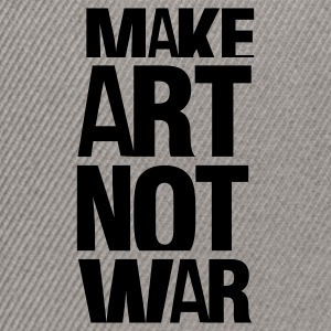 Gråmelerad make art not war T-shirts - Snapbackkeps