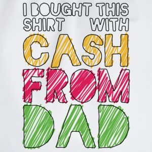 Weiß Cash From Dad T-Shirts - Turnbeutel