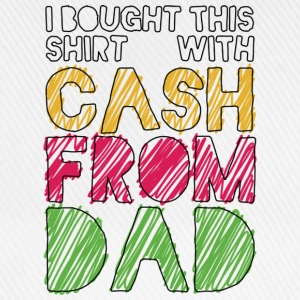 Weiß Cash From Dad T-Shirts - Baseballkappe