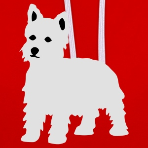 Wine West Highland Terrier / Westie T-Shirts - Kontrast-Hoodie