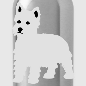 Wine West Highland Terrier / Westie T-Shirts - Trinkflasche