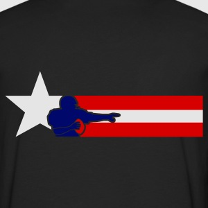 Olive american_football_national_banner T-shirts - T-shirt manches longues Premium Homme