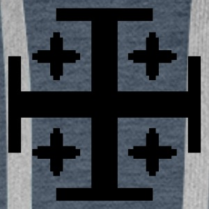 Dark navy 5 Kreuze / 5 crosses (1c) Men's T-Shirts - Men's Premium Hoodie