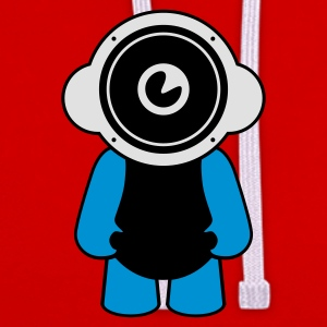 Red speakerdoll minimal music Men's T-Shirts - Contrast Colour Hoodie