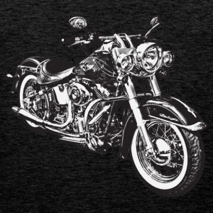 Brown chopper hog bike motorrad Men's T-Shirts - Men's Premium Tank Top