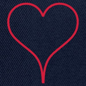 Dark navy Heart Men's T-Shirts - Casquette snapback