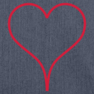 Dark navy Heart Men's T-Shirts - Sac bandoulière 100 % recyclé