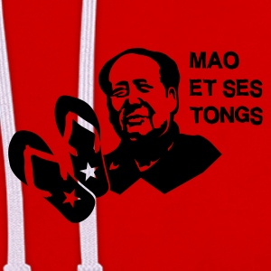 Rouge mao et ses tongs T-shirts - Sweat-shirt contraste