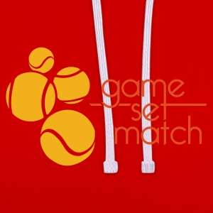 TENNIS: GAME SET MATCH - Contrast hoodie