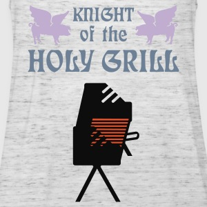 Grigio melange Knight of the holy grill (Txt, 2c) T-shirt - Top da donna della marca Bella