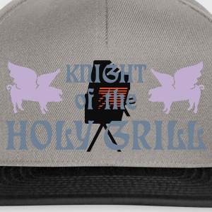 Gris chiné Knight of the holy grill (Txt, 2c) T-shirts - Casquette snapback