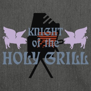 Grigio melange Knight of the holy grill (Txt, 2c) T-shirt - Borsa in materiale riciclato