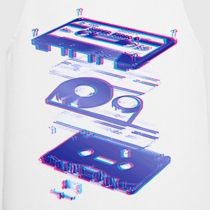 Wit audio cassette tape compact 80s retro walkman T-shirts - Keukenschort