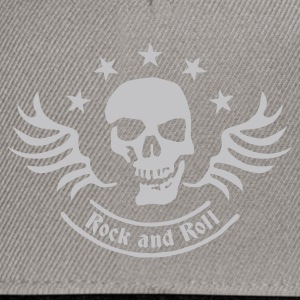 Olive rock_and_roll_skull_1c T-Shirts - Snapback Cap
