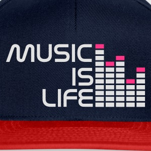 Navy music is life equalizer r DE T-Shirts - Snapback Cap