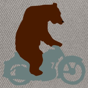 Khaki green Biker Bear, Born Free, Ride Free Men's T-Shirts - Snapback Cap