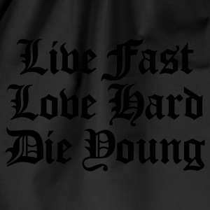 live fast love hard T-Shirts - Drawstring Bag