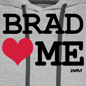 Gris chiné brad loves me by wam T-shirts - Sweat-shirt à capuche Premium pour hommes