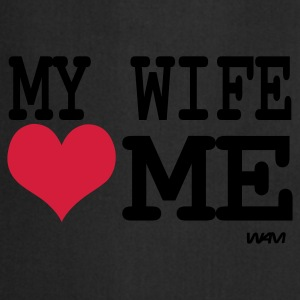 Black my wife loves me by wam Men's T-Shirts - Cooking Apron