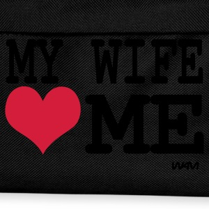 Black my wife loves me by wam Men's T-Shirts - Kids' Backpack