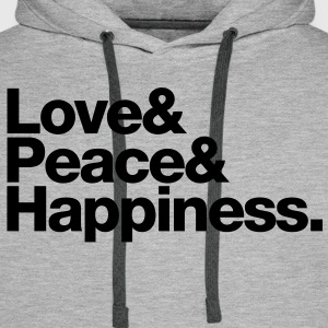 love peace happiness T-shirts - Mannen Premium hoodie