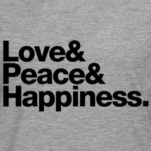 love peace happiness T-shirts - Mannen Premium shirt met lange mouwen