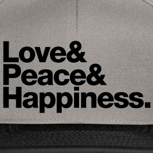 love peace happiness T-shirts - Snapback cap