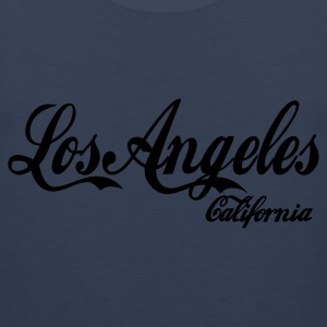 Navy scuro los angeles california  T-shirt - Canotta premium da uomo