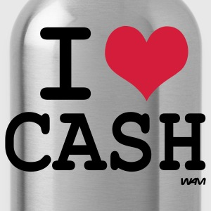 Svart i love cash by wam T-shirts - Vattenflaska