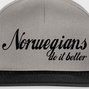 Gråmelert norwegians do it better T-skjorter - Snapback-caps