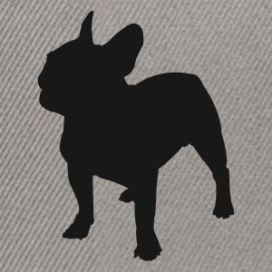 Bouledogue silhouette Tee shirts - Casquette snapback
