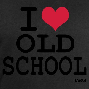 Noir i love old school by wam T-shirts - Sweat-shirt Homme Stanley & Stella
