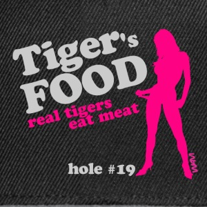 Noir tiger 's food grey by wam T-shirts - Casquette snapback