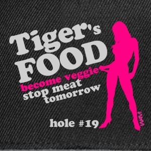 Noir tiger 's food veggie grey by wam T-shirts - Casquette snapback