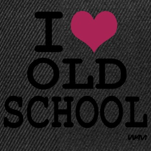 Zwart i love old school by wam T-shirts - Snapback cap