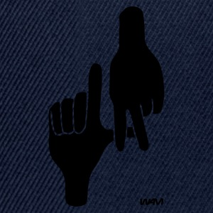 Dark navy los angeles hand sign by wam T-shirts - Snapback cap