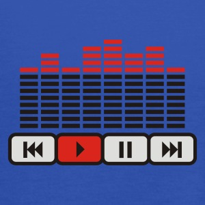 Bleu royal music player loud Equalizer  T-shirts - Débardeur Femme marque Bella