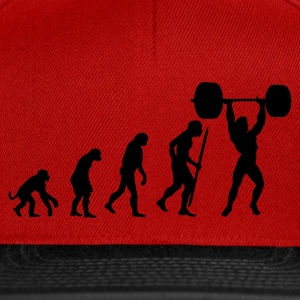 Red Evolution of pumping iron Men's T-Shirts - Snapback Cap