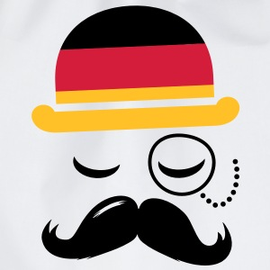 Germany fashionable retro iconic gentleman with flag and Moustache | sports | football |  T-shirts - Gymnastikpåse