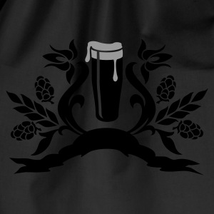 Nero floral: bicchiere di birra / glass of beer (2c) T-shirt - Sacca sportiva