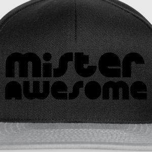 Noir mister awesome T-shirts - Casquette snapback