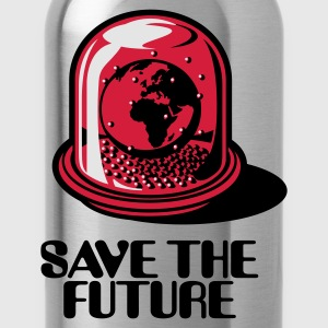 Sky blue Weltkugel / Snow Globe - Save The Future_3c T-Shirts - Trinkflasche