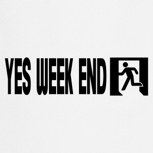 Grijs gespikkeld yes week end T-shirts - Keukenschort