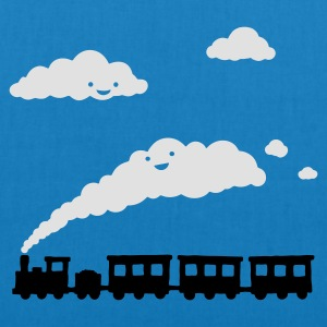 Sky blue railway locomotive T-Shirts - EarthPositive Tote Bag