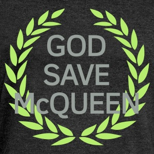 Brown God Save Mc Queen Men's T-Shirts - Women's Boat Neck Long Sleeve Top