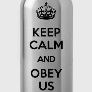 KEEP CALM AND OBEY US T-Shirts - Water Bottle
