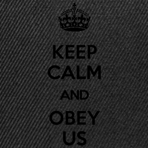 KEEP CALM AND OBEY US T-Shirts - Snapback Cap