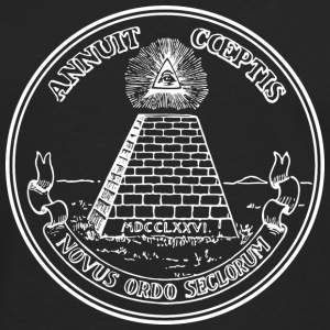 All seeing eye, pyramid, dollar, freemason, god T-shirts - Herre premium T-shirt med lange ærmer